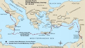 apostle-paul-fourth-missionary-journey-map